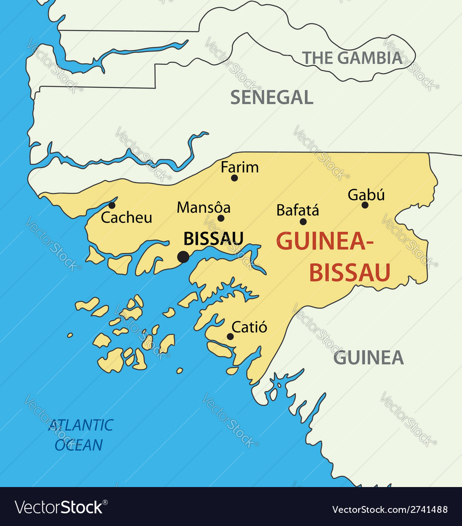 Republic of guinea-bissau - map vector | Price: 1 Credit (USD $1)
