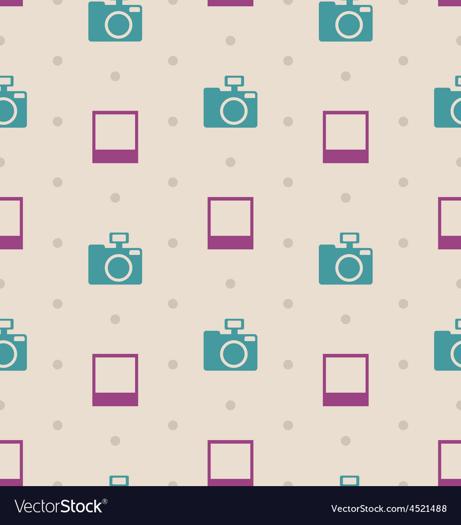 Retro seamless texture with snapshots and cameras vector | Price: 1 Credit (USD $1)