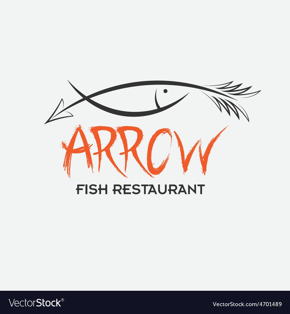Arrrow fish restaurant vector | Price: 1 Credit (USD $1)