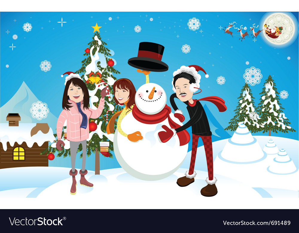 Christmas eve vector | Price: 3 Credit (USD $3)