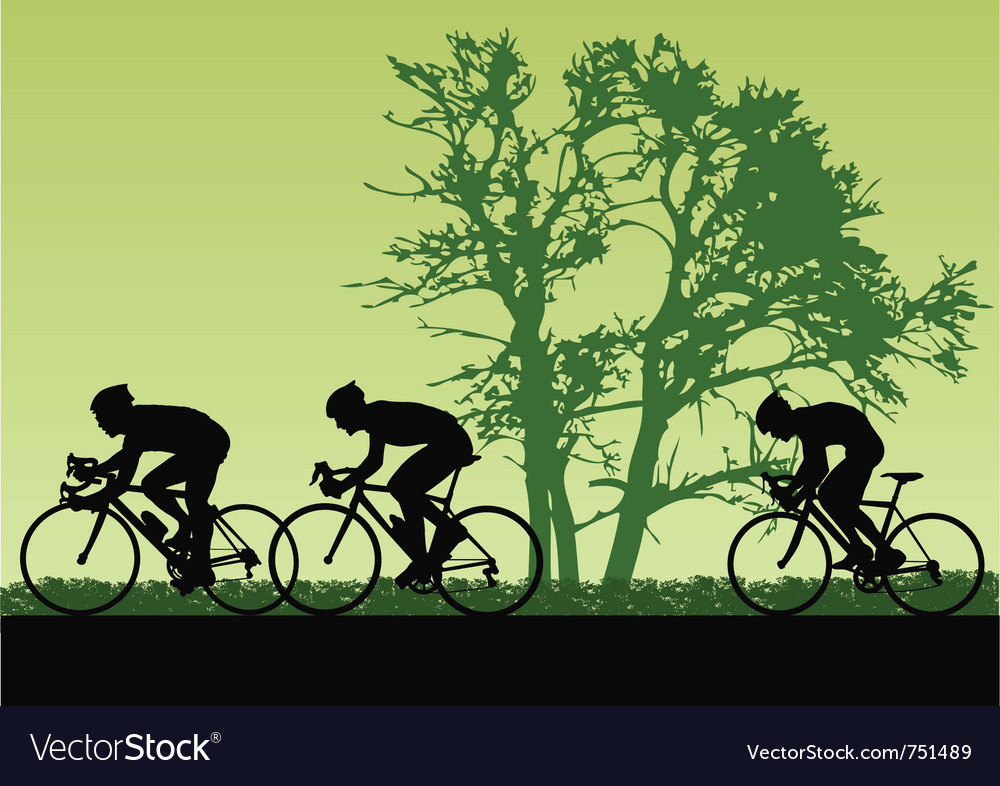 Cyclists vector | Price: 3 Credit (USD $3)