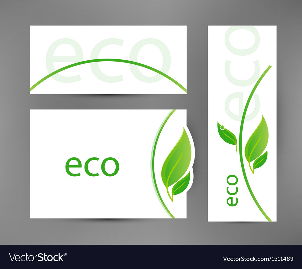 Eco banners templates vector   Price: 1 Credit (USD $1)