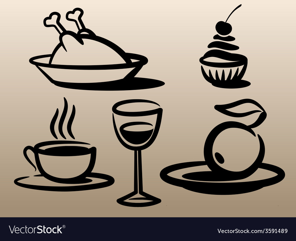 Food and beverages vector | Price: 1 Credit (USD $1)