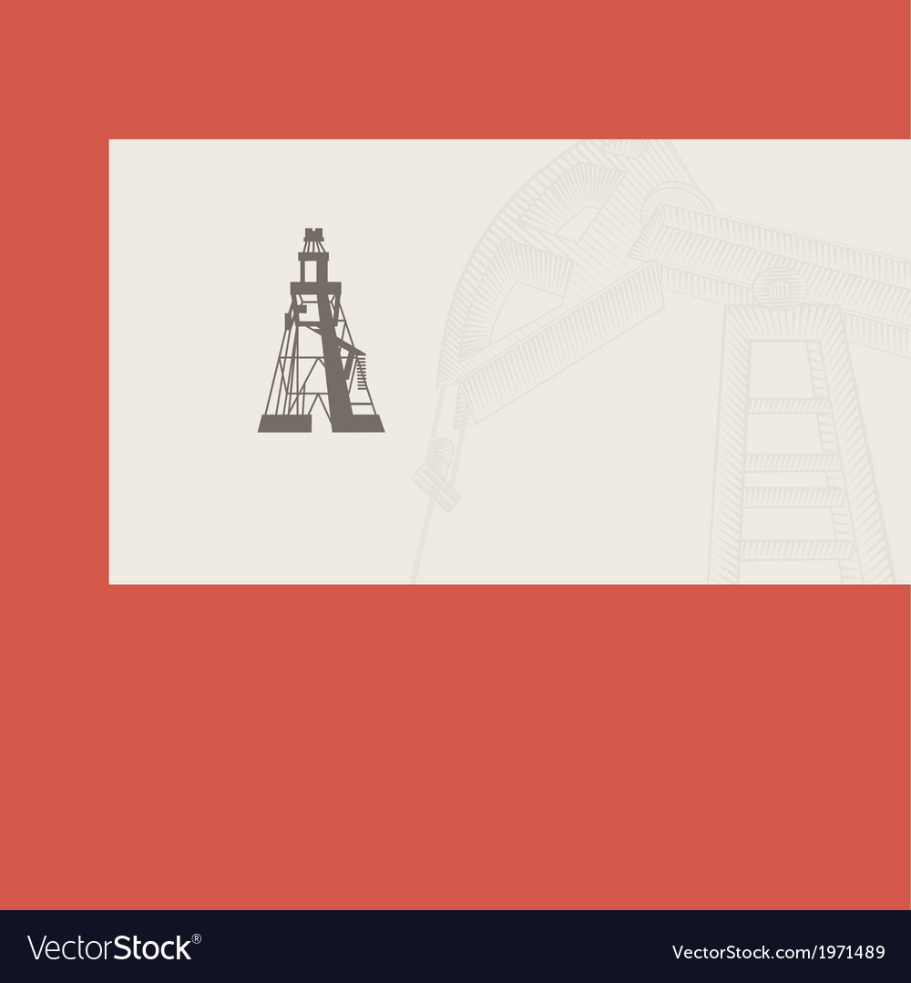 Oil rig card vector | Price: 1 Credit (USD $1)