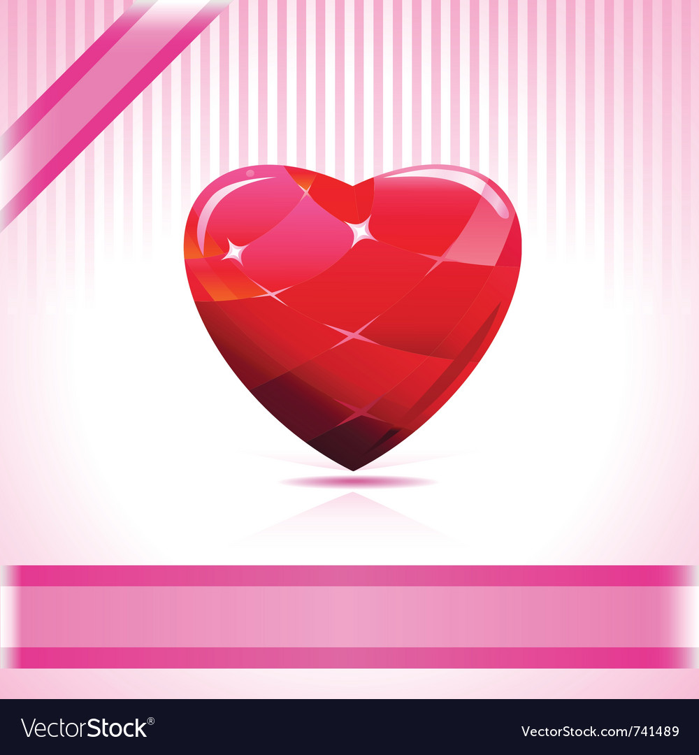 Shiny ruby heart vector | Price: 1 Credit (USD $1)