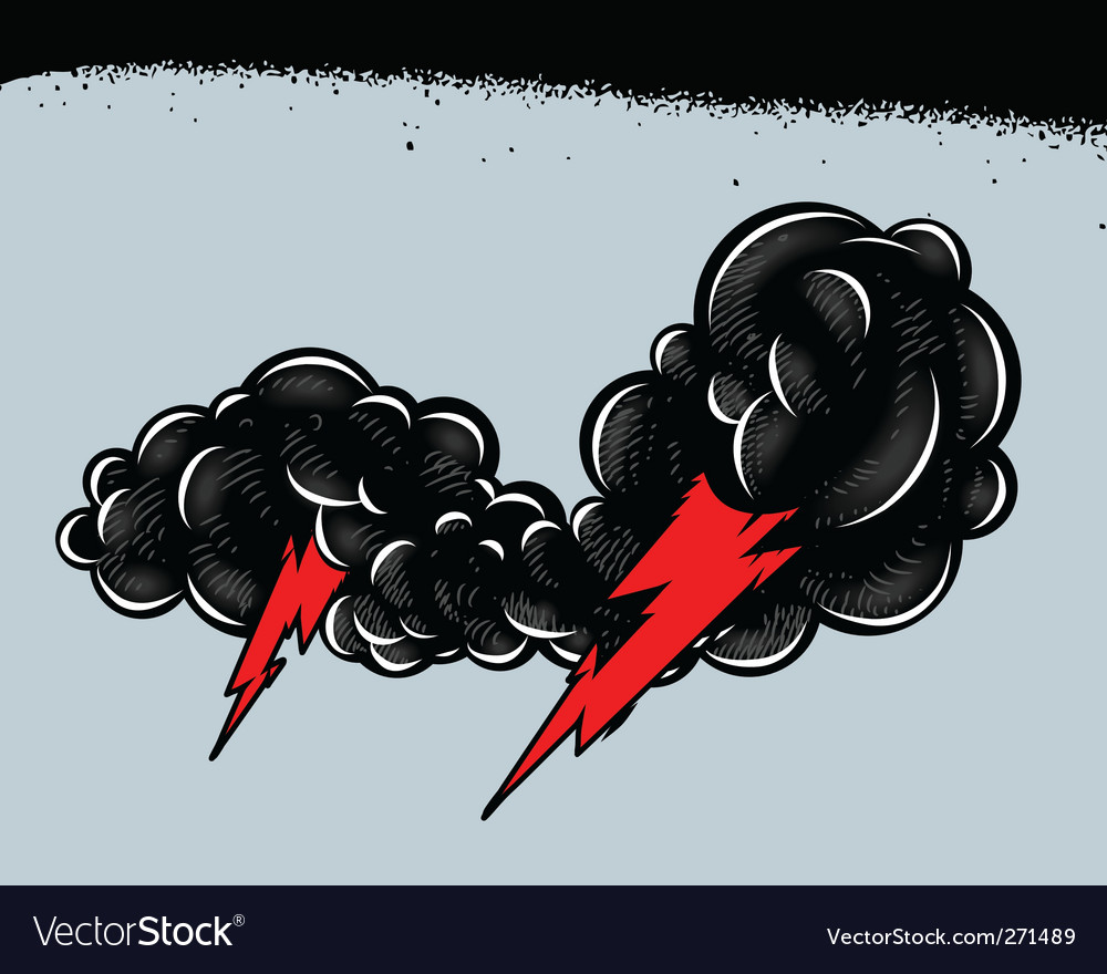 Thundershower vector | Price: 1 Credit (USD $1)
