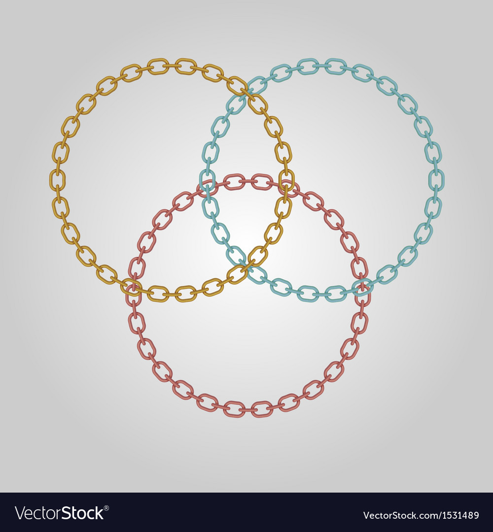 Triple ring chains with gold silver and bronze vector | Price: 1 Credit (USD $1)