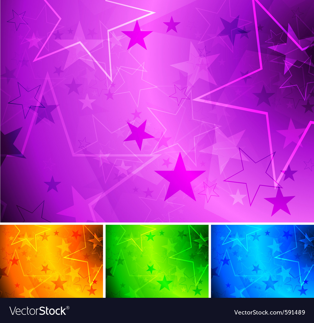 Vibrant star backgrounds vector | Price: 1 Credit (USD $1)