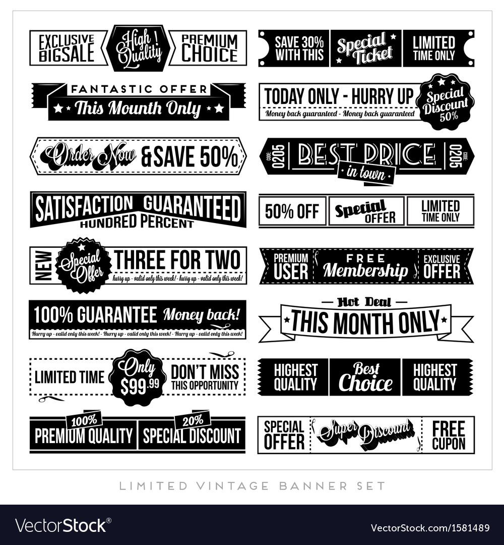 Vintage typographic business banner vector | Price: 1 Credit (USD $1)