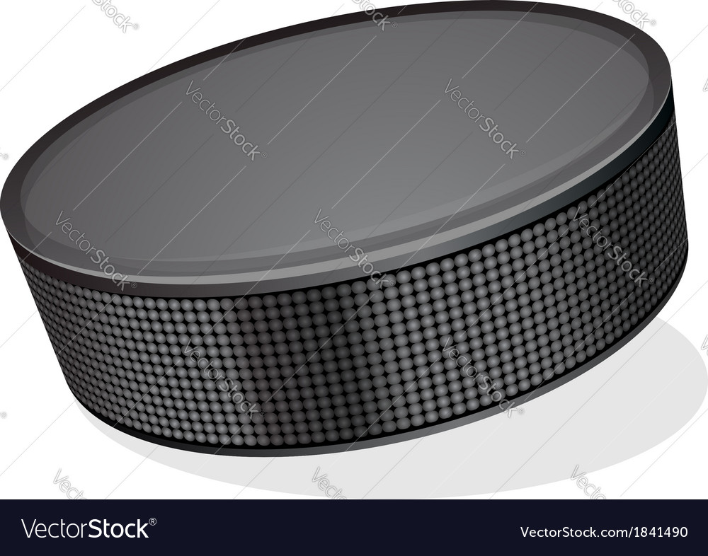 Black hockey puck vector | Price: 1 Credit (USD $1)