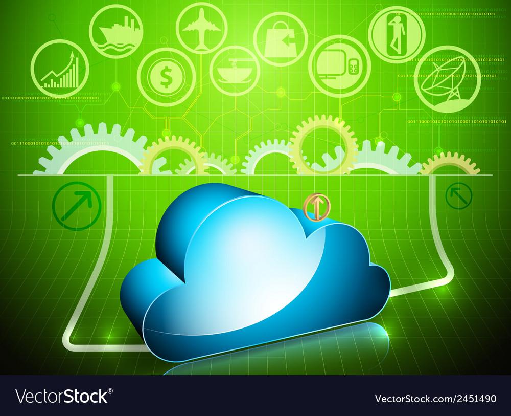 Cloud processing in progress vector | Price: 1 Credit (USD $1)