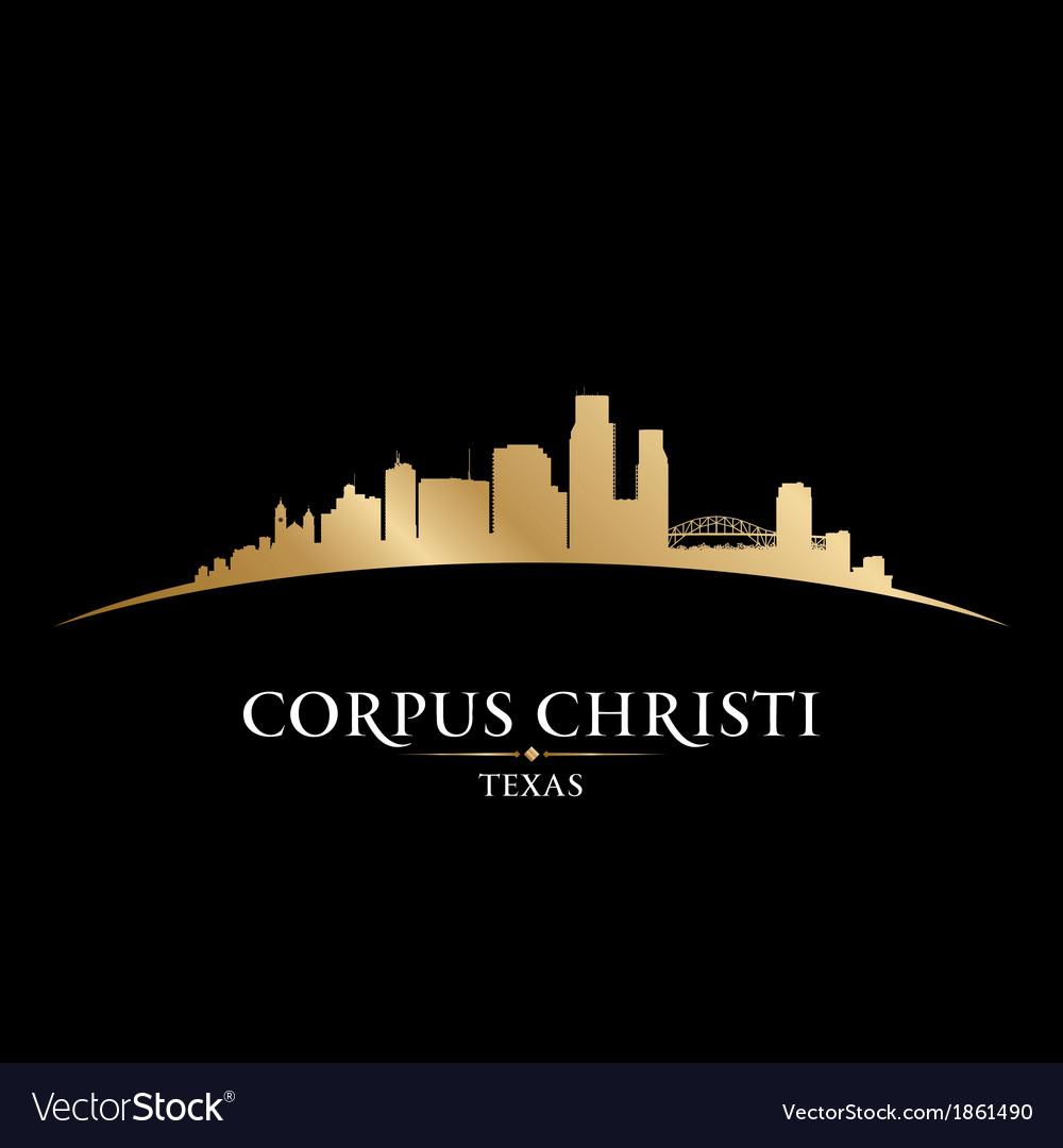 Corpus christi texas city skyline silhouette vector | Price: 1 Credit (USD $1)