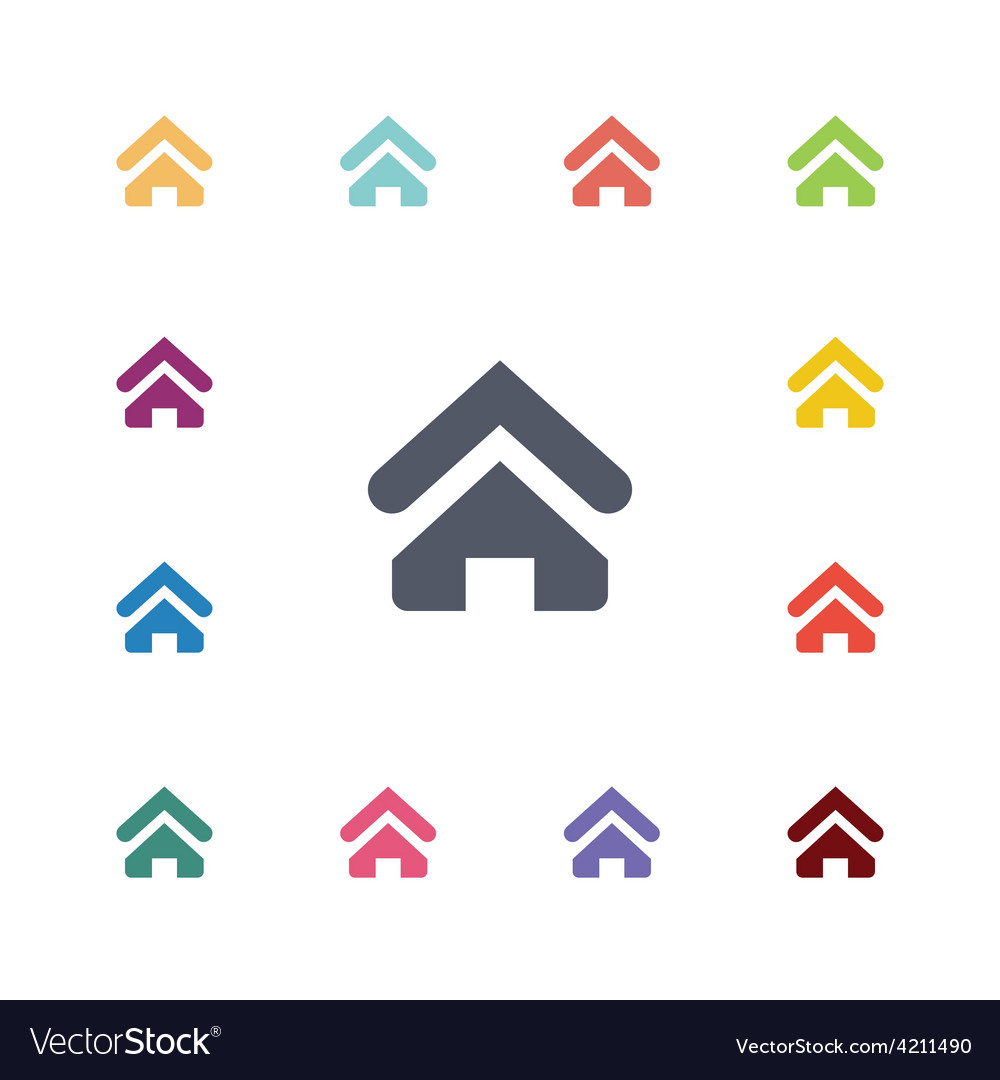 Home flat icons set vector | Price: 1 Credit (USD $1)