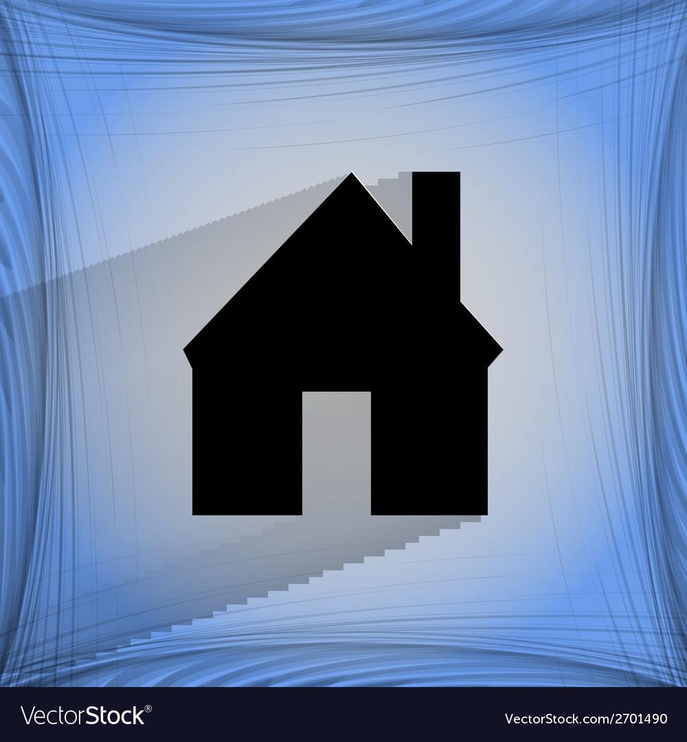 Home flat modern web design on a flat geometric vector | Price: 1 Credit (USD $1)