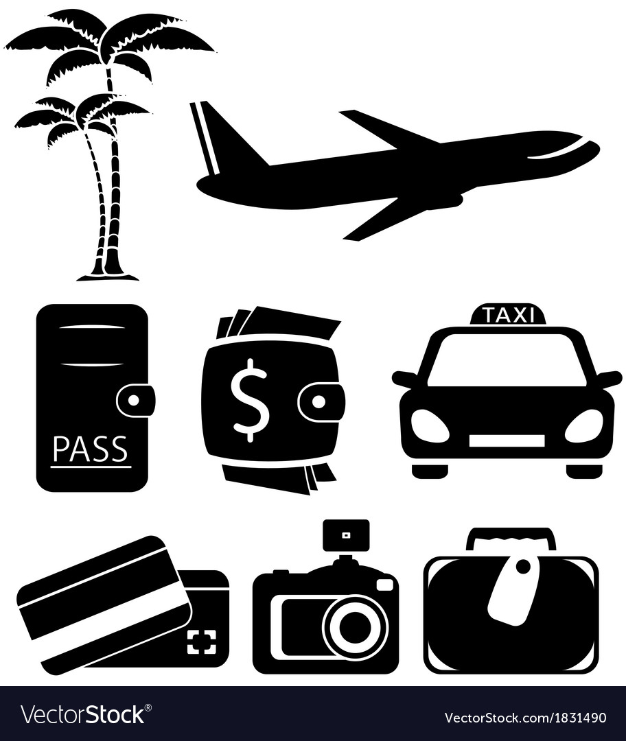 Isolated objects for travel vector | Price: 1 Credit (USD $1)