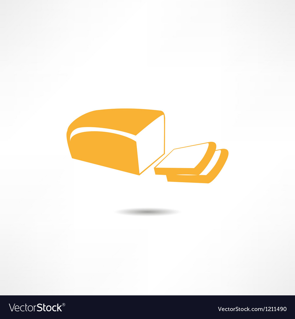 Loaf of bread icon vector | Price: 1 Credit (USD $1)