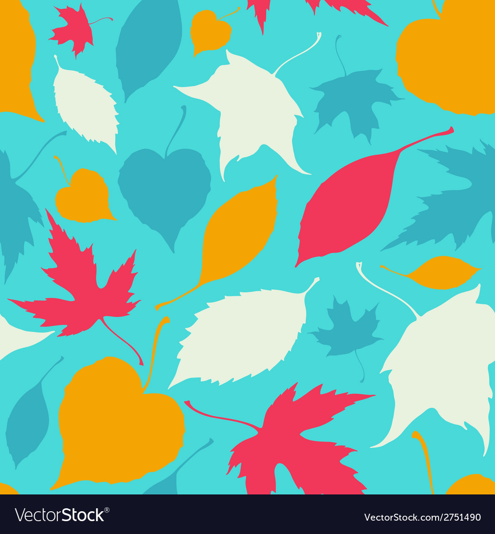 Seamless pattern with falling leaves autumn vector | Price: 1 Credit (USD $1)