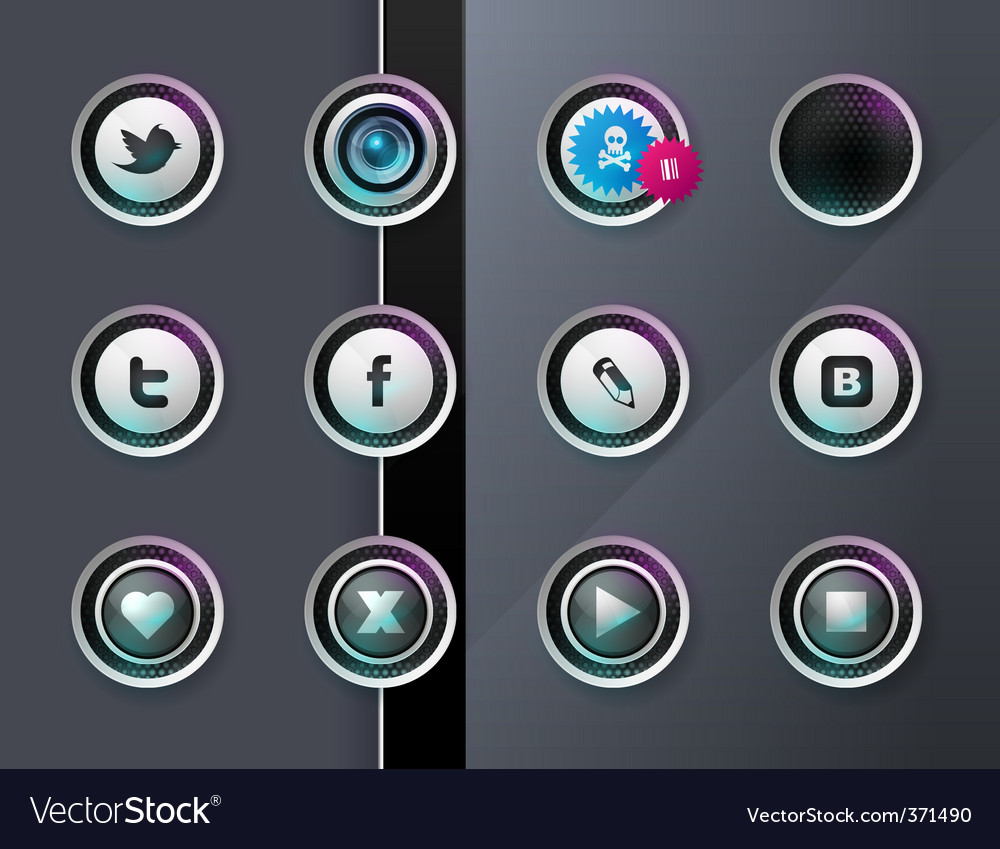 Social icons vector | Price: 3 Credit (USD $3)