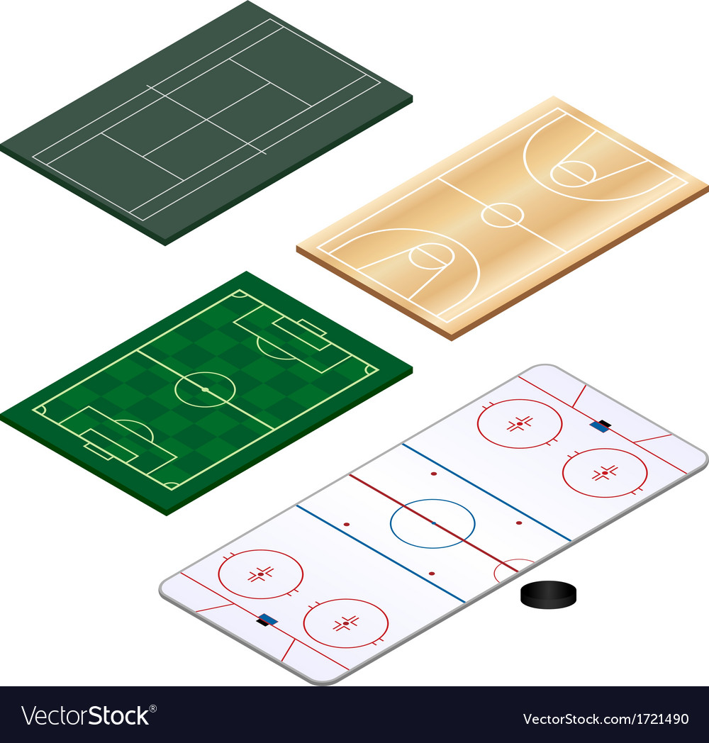 Sports grounds set vector | Price: 1 Credit (USD $1)