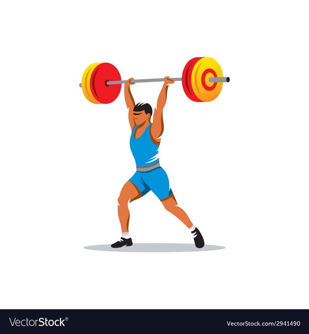 Weightlifting sign vector | Price: 1 Credit (USD $1)