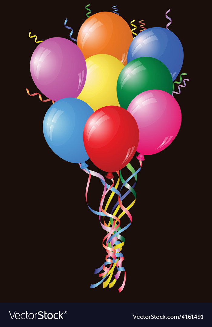 Colourful birthday or party balloons vector | Price: 1 Credit (USD $1)