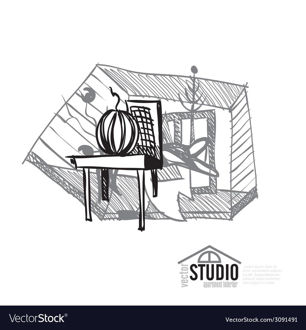 Creative abstract interior design vector | Price: 1 Credit (USD $1)