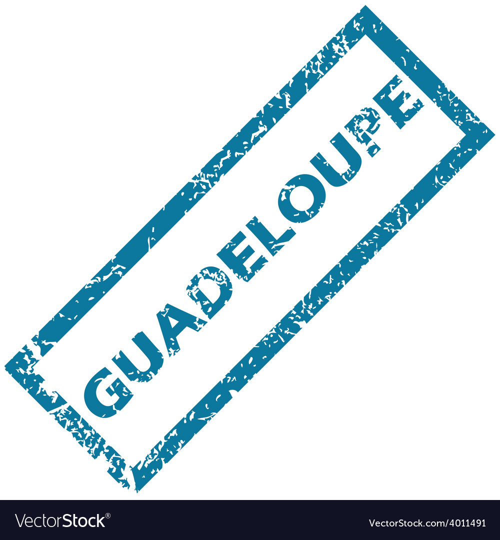 Guadeloupe rubber stamp vector | Price: 1 Credit (USD $1)