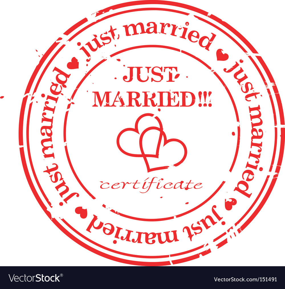 Just married stamp vector | Price: 1 Credit (USD $1)