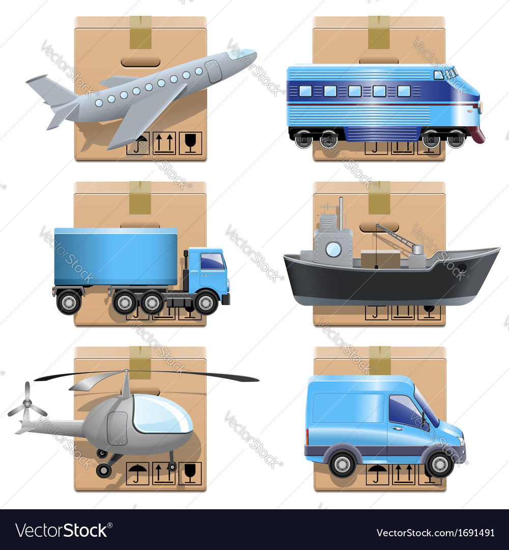 Shipment icons vector | Price: 1 Credit (USD $1)