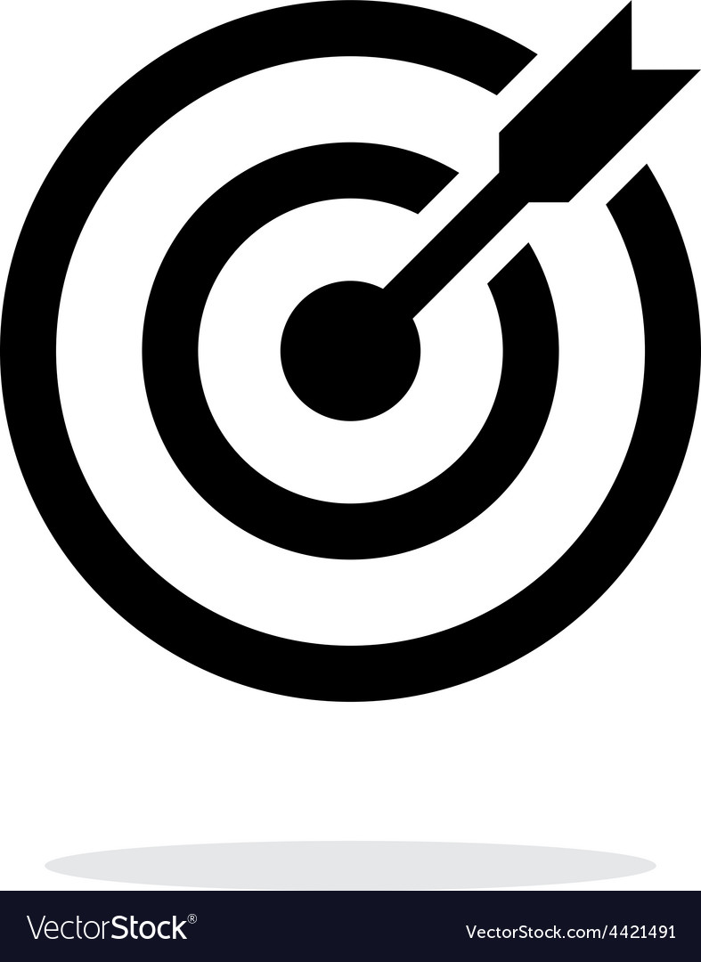 Successful shoot darts target aim icon on white vector | Price: 1 Credit (USD $1)