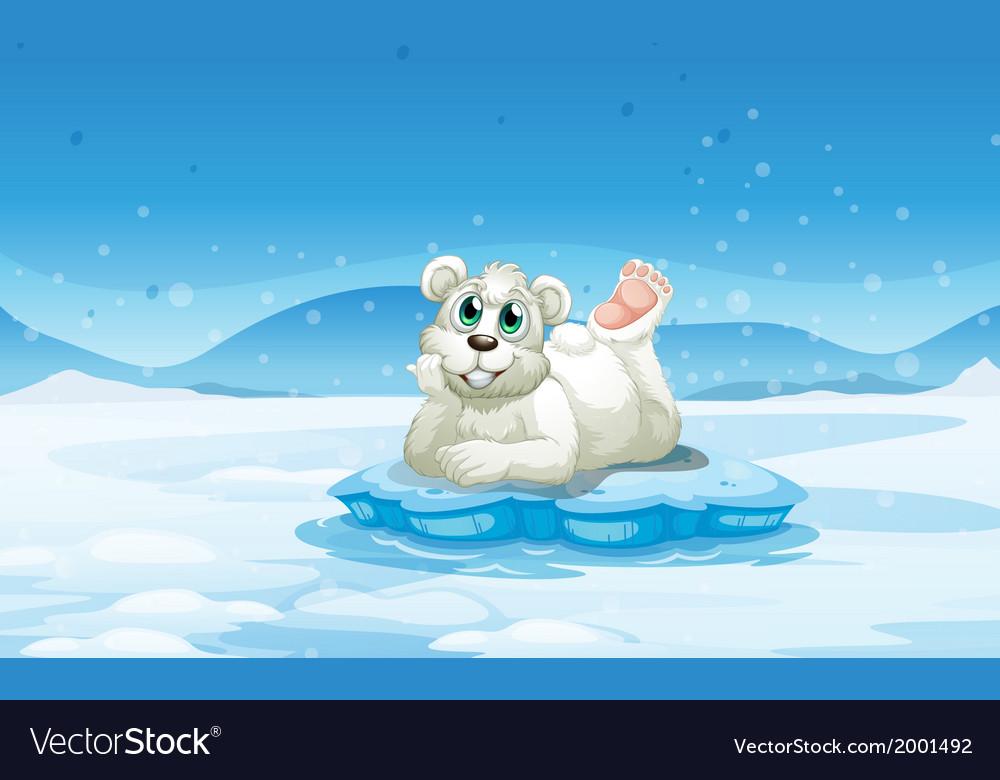 A polar bear above the iceberg vector | Price: 3 Credit (USD $3)