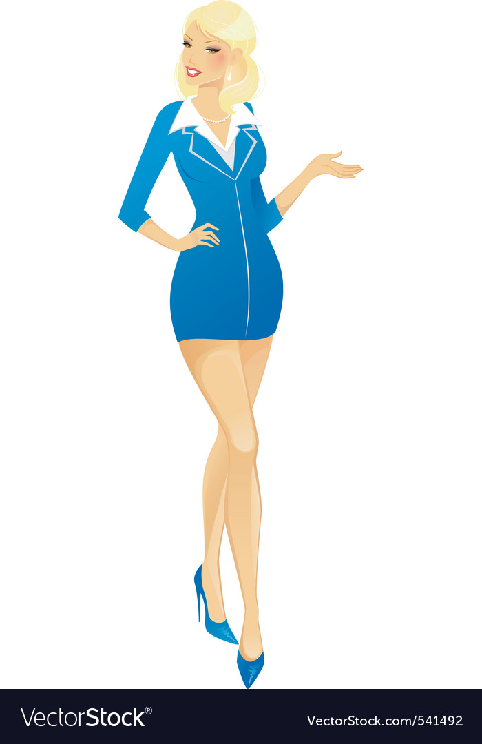 Air hostess vector | Price: 1 Credit (USD $1)