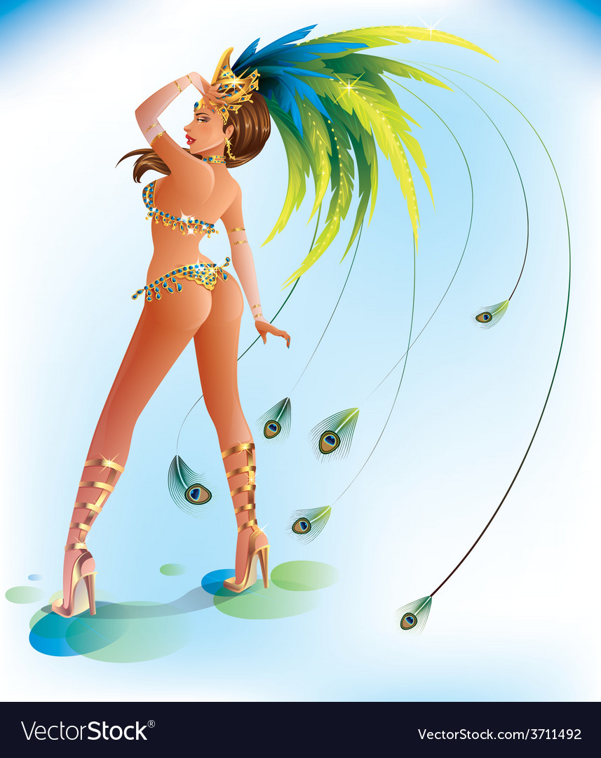 Carnival dancer vector | Price: 3 Credit (USD $3)
