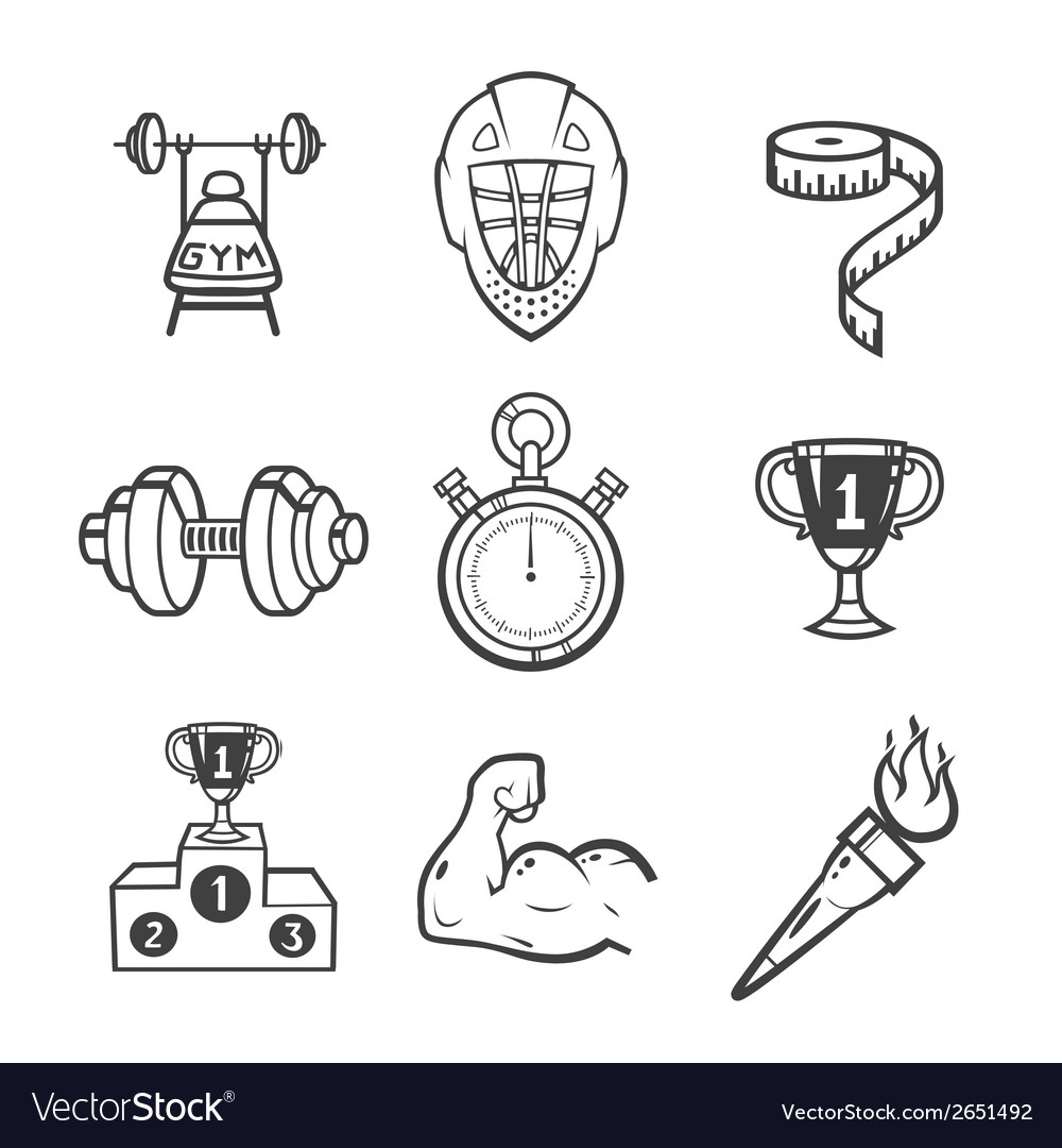 Collection of sport icons vector | Price: 1 Credit (USD $1)