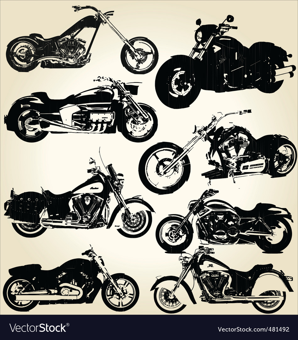 Cruiser motorcycles vector | Price: 1 Credit (USD $1)
