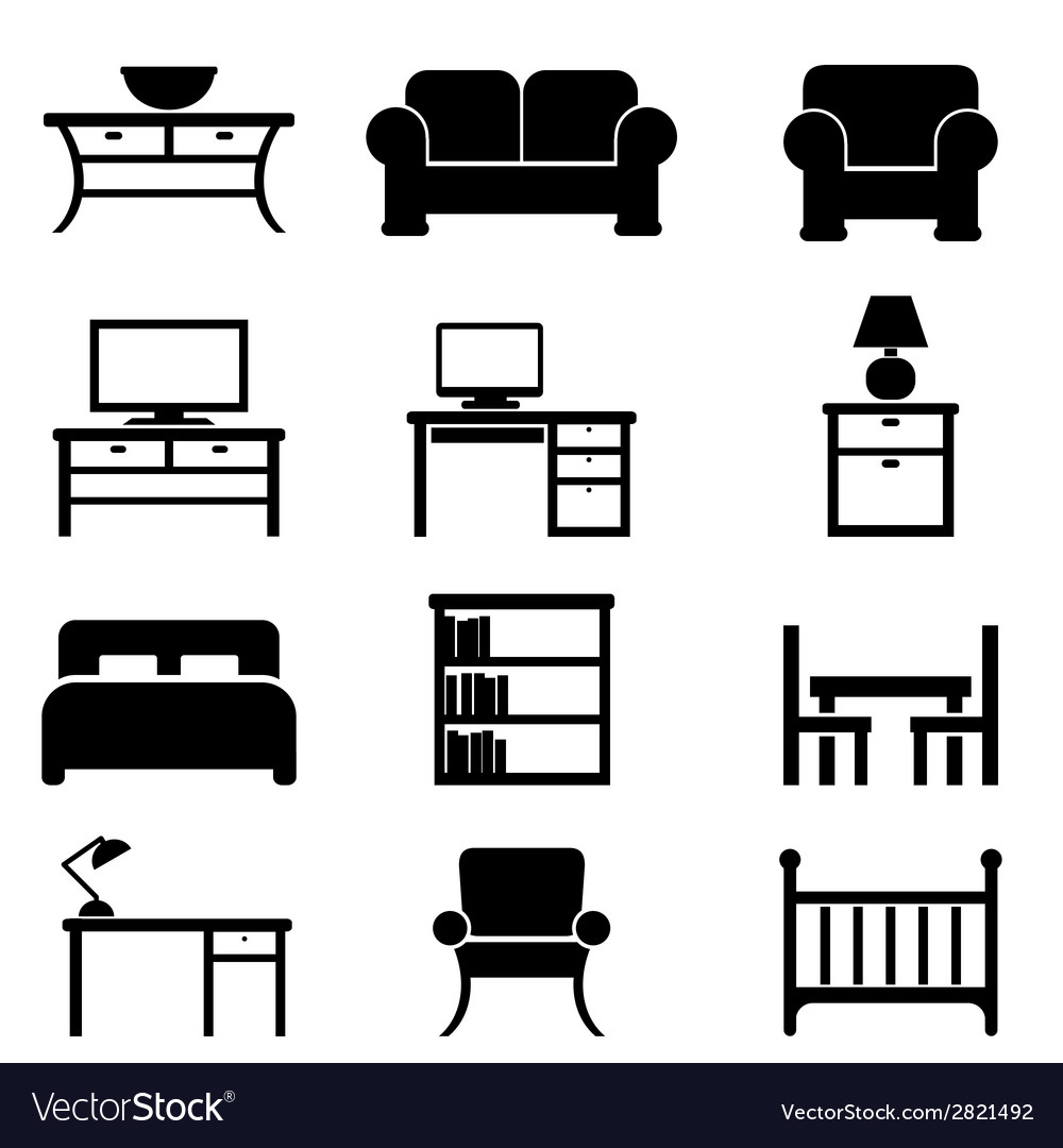 House furniture icons vector | Price: 1 Credit (USD $1)