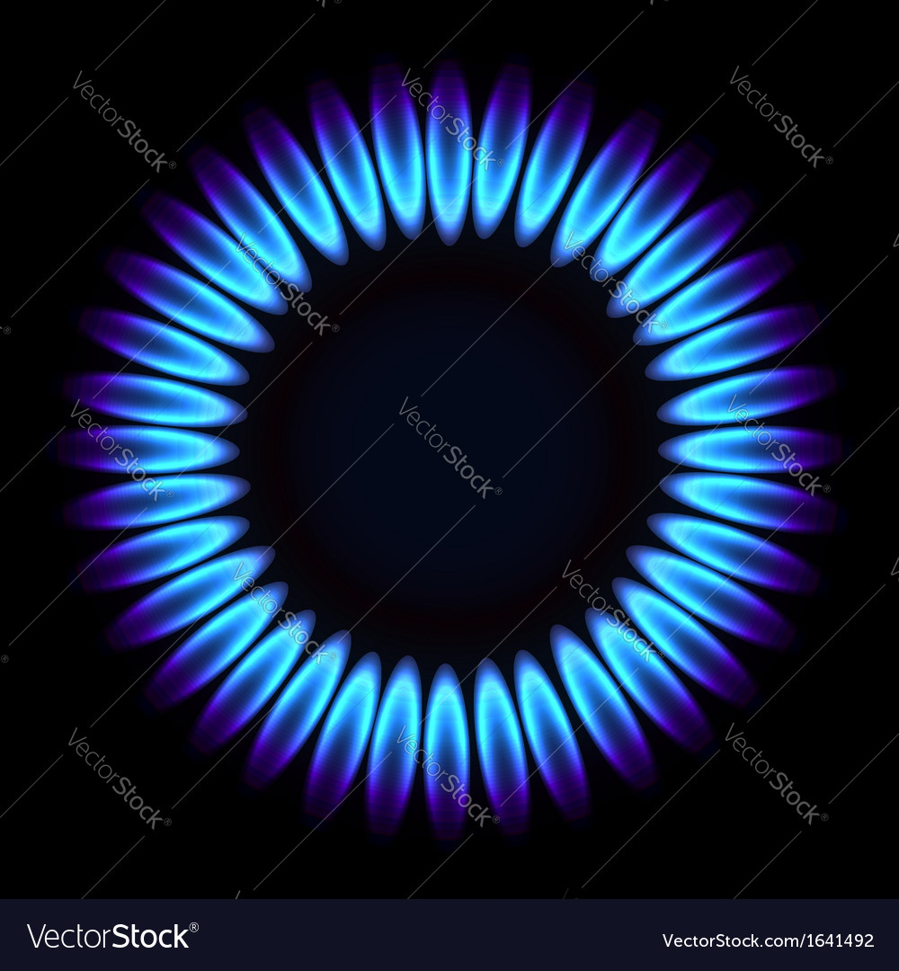 Natural gas flame vector | Price: 1 Credit (USD $1)