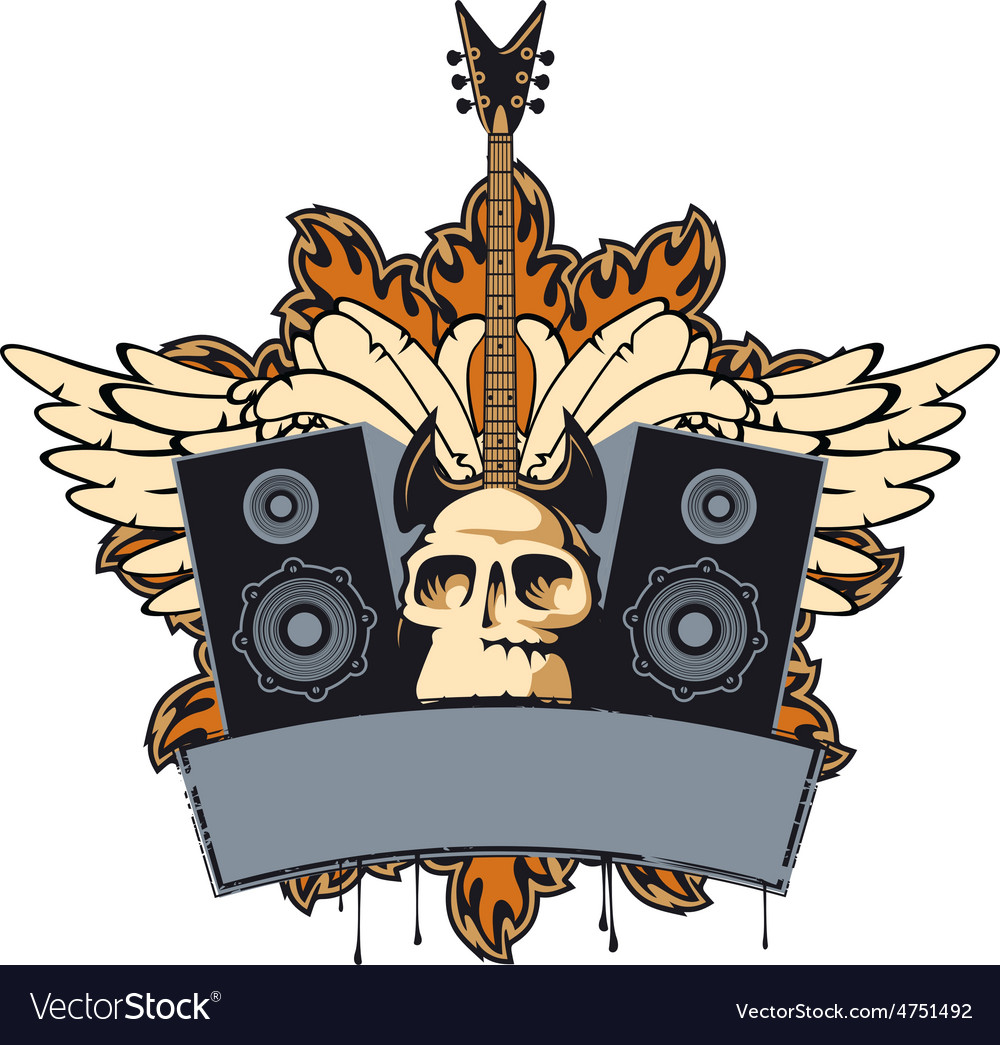 Rock music vector | Price: 3 Credit (USD $3)