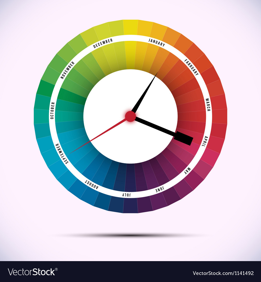 Time for design concept clock vector | Price: 1 Credit (USD $1)
