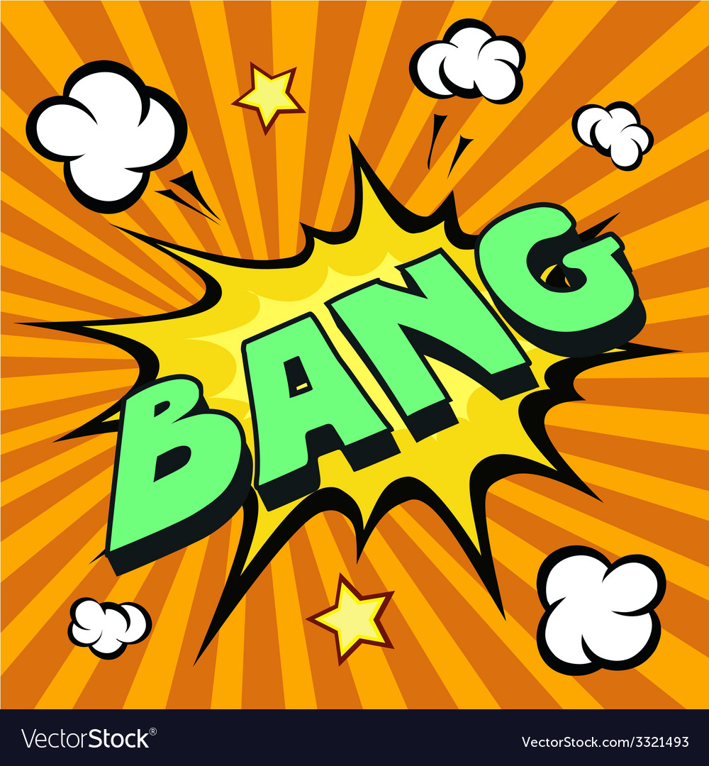 Bang cartoon comic explosion vector | Price: 1 Credit (USD $1)