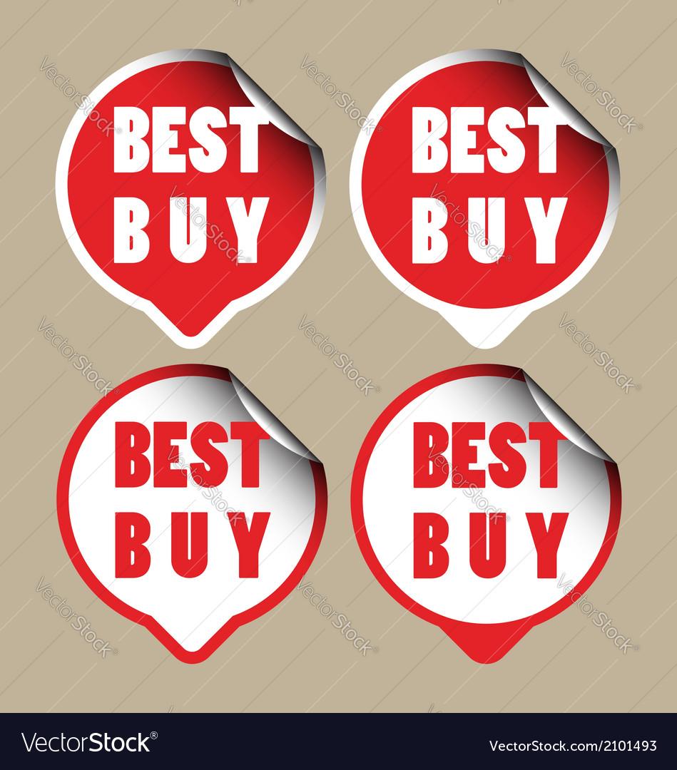 Best buy stickers vector | Price: 1 Credit (USD $1)