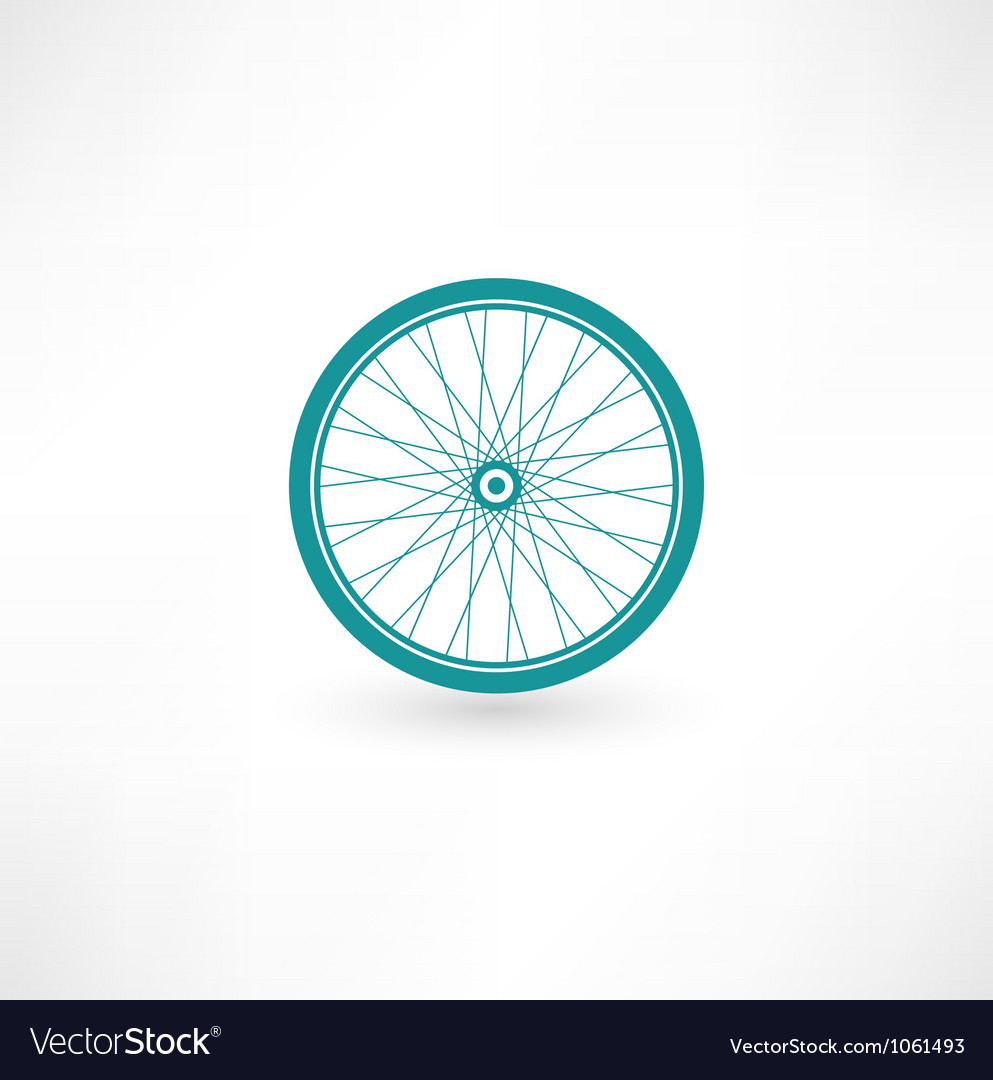 Bicycle wheel symbol vector | Price: 1 Credit (USD $1)