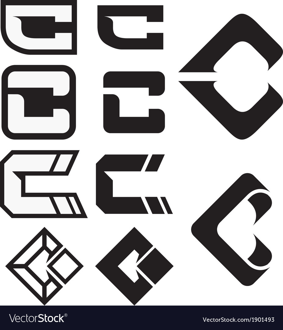 C logo icons 01 vector | Price: 1 Credit (USD $1)