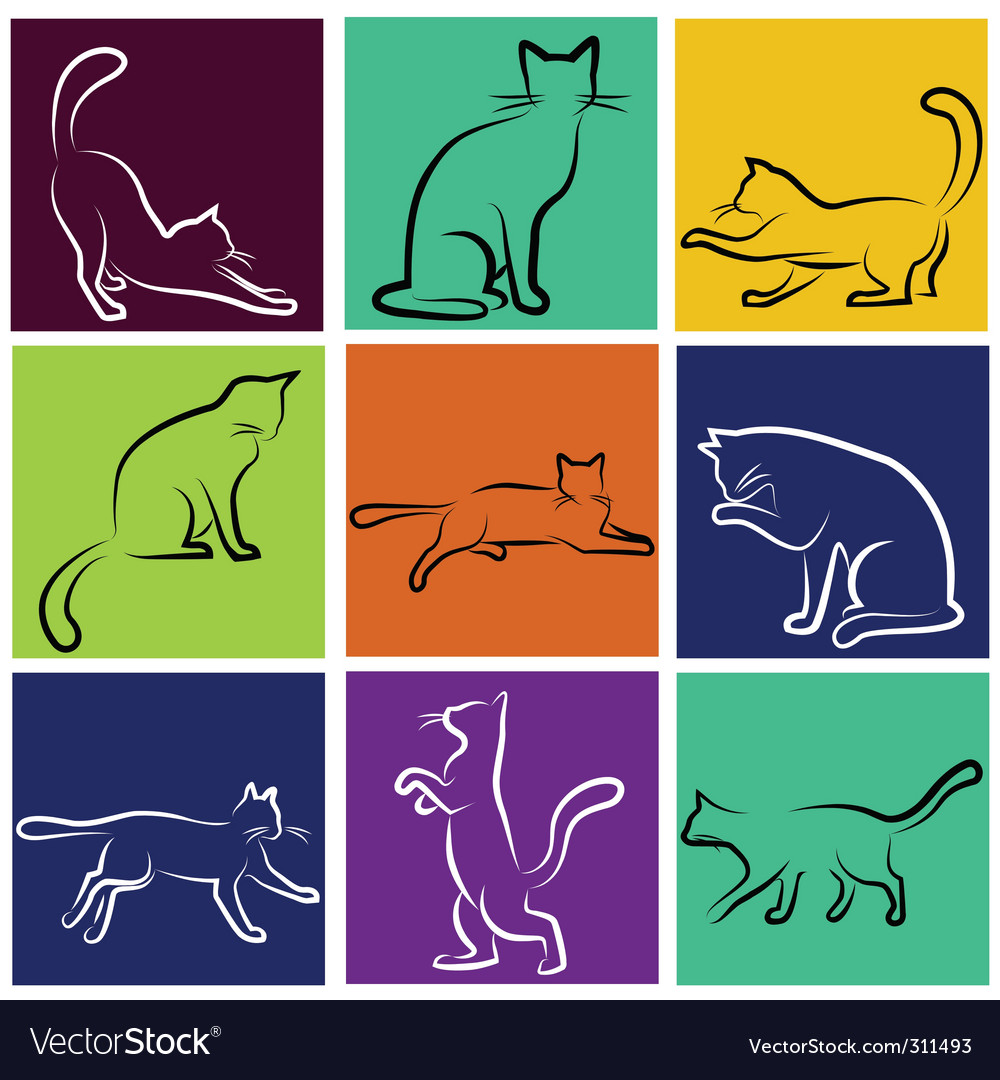 Cat vector | Price: 1 Credit (USD $1)