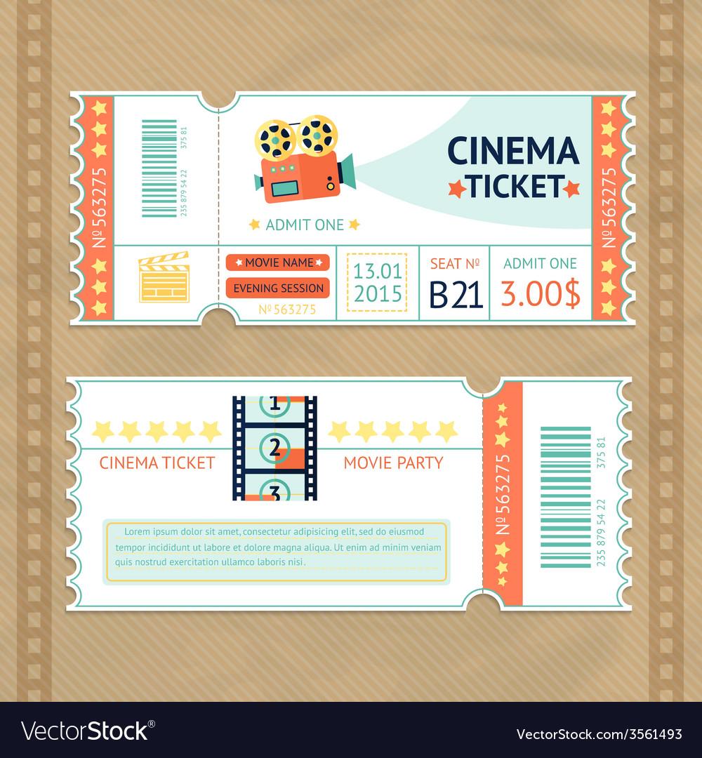 Cinema tickets set vector | Price: 1 Credit (USD $1)