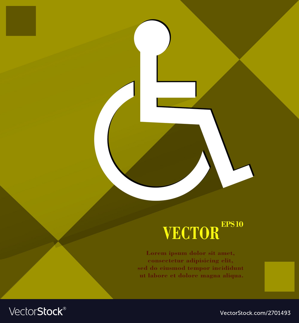 Disabled flat modern web design on a flat vector | Price: 1 Credit (USD $1)