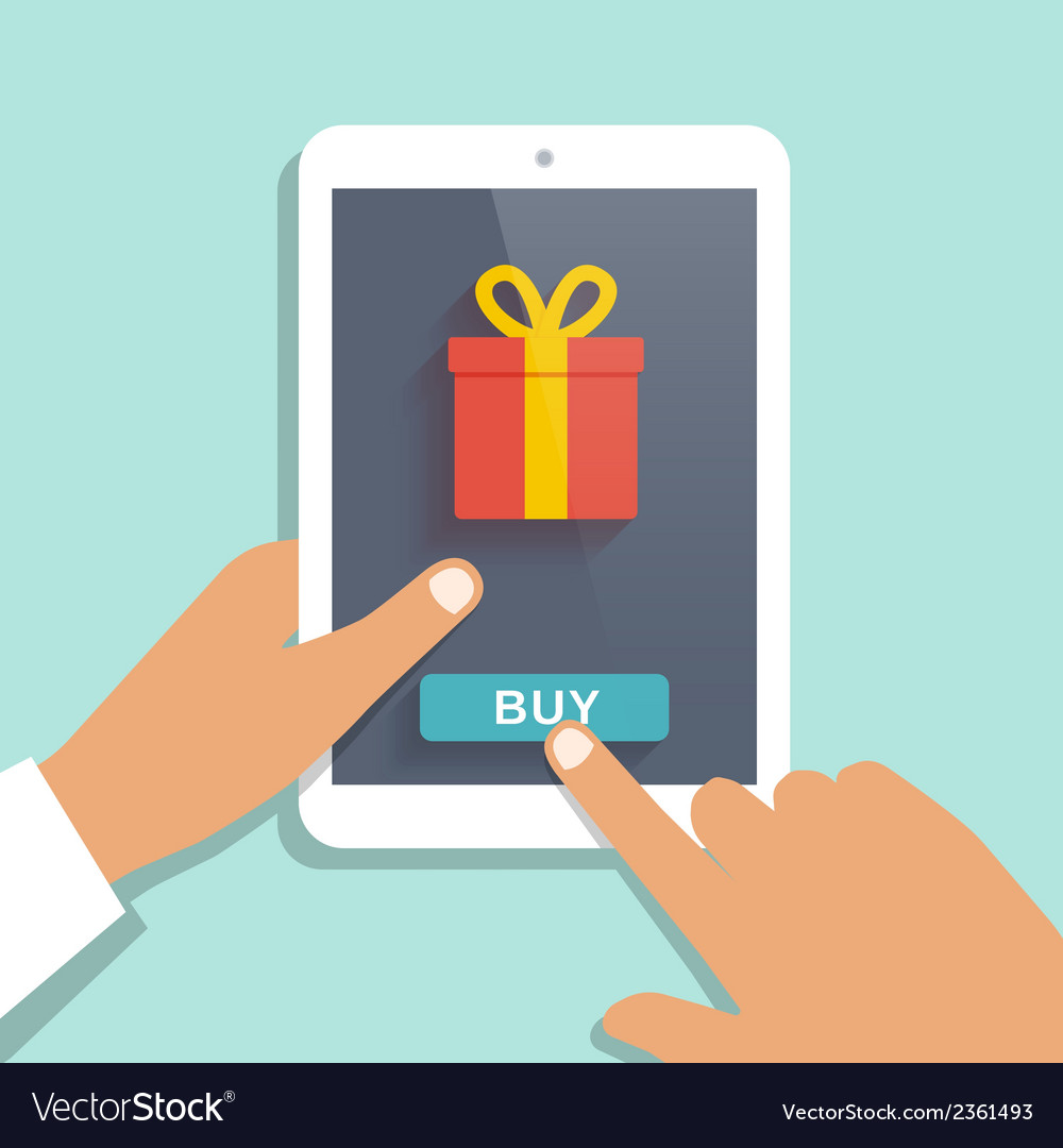 E commerce flat background vector | Price: 1 Credit (USD $1)