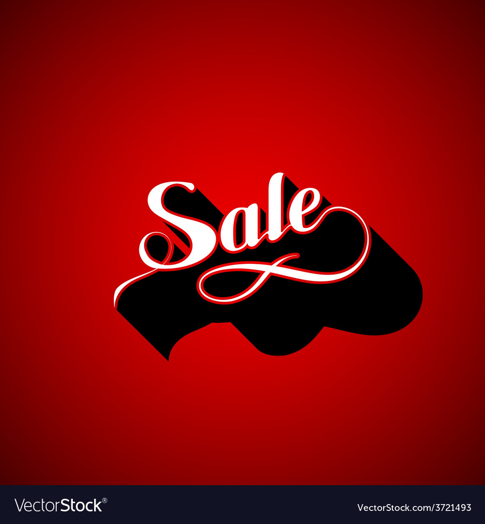 Handwritten sale retro label vector | Price: 1 Credit (USD $1)