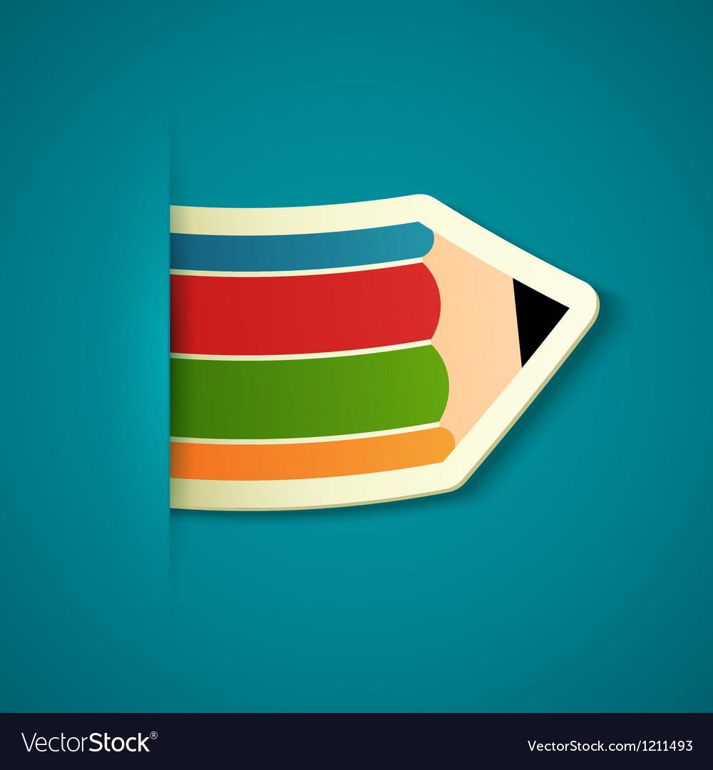 Paper pencil sticker vector | Price: 1 Credit (USD $1)