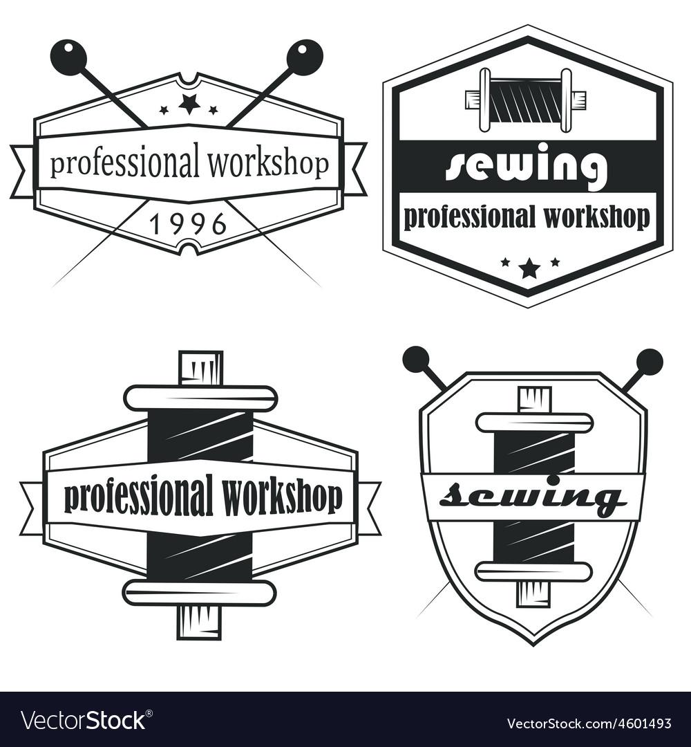 Set of vintage tailor labels emblems and designed vector   Price: 1 Credit (USD $1)